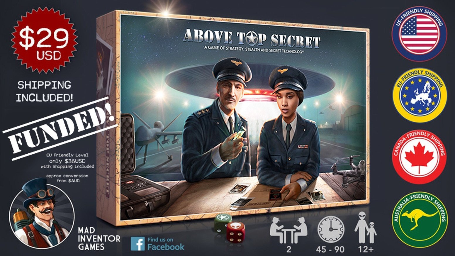 ABOVE TOP SECRET is a turn-based strategic card game featuring stealth and secret technology as your defense systems.