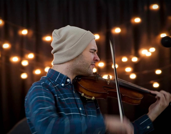 Jeffrey Niemeier has toured with us on and off over the last three years. This is his 700th recording and we are very excited to have his fireball fiddling on The Last Dance. Photo by Adrianne Adelle
