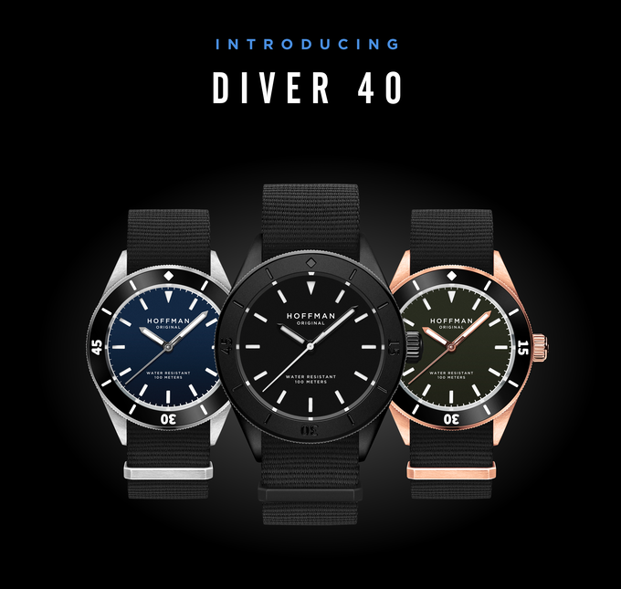 715de9c683b Introducing the DIVER 40 - the most classic of sports watches reinvented.  Iconic features - rotatable bezel