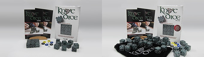 the original Knot Dice and Knot Dice Deluxe