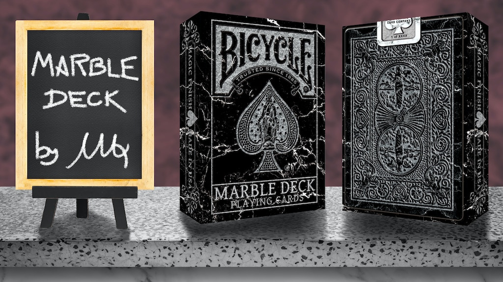 Project image for BICYCLE MARBLE Playing Cards by Max