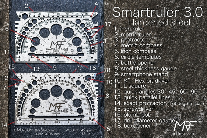 STAINLESS STEEL SMARTRULER 3.0