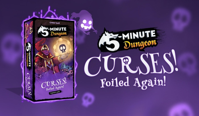 Curses! Foiled Again! is the long-awaited expansion to 5-Minute Dungeon, a chaotic, co-operative, real-time card game.