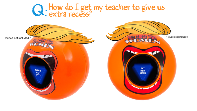 PROTOTYPE. Final Bigly Ball will be similar to these.