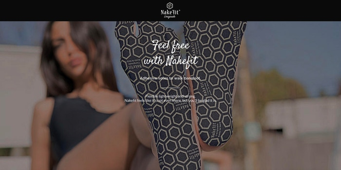 NAKEFIT: Hypoallergenic adhesive pad for walking freely wherever you want!