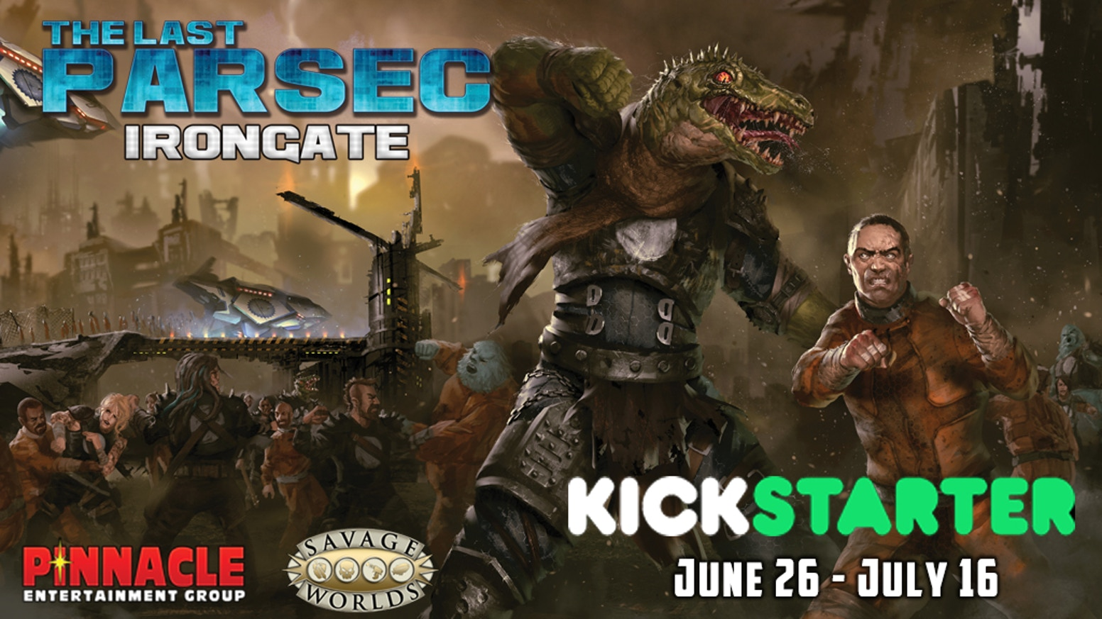 A Kickstarter Booster for Irongate, a new system guide and Plot Point Campaign for Savage Worlds and The Last Parsec!