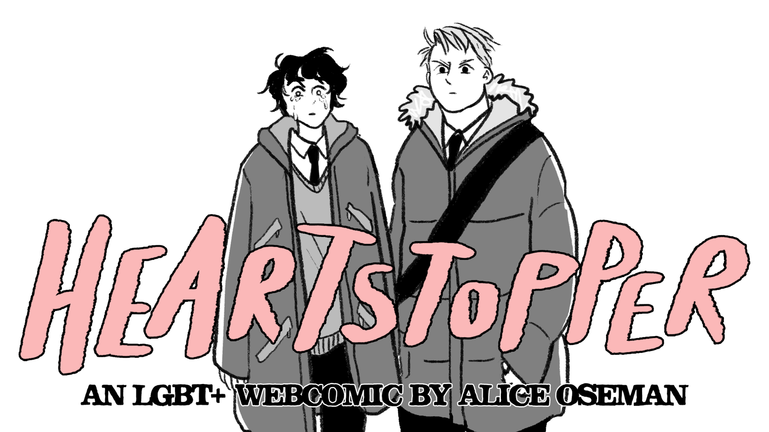 A gay nerd, a rugby lad, and a whole lot of drama. The first volume of Alice Oseman's LGBT+ YA romance webcomic, HEARTSTOPPER.