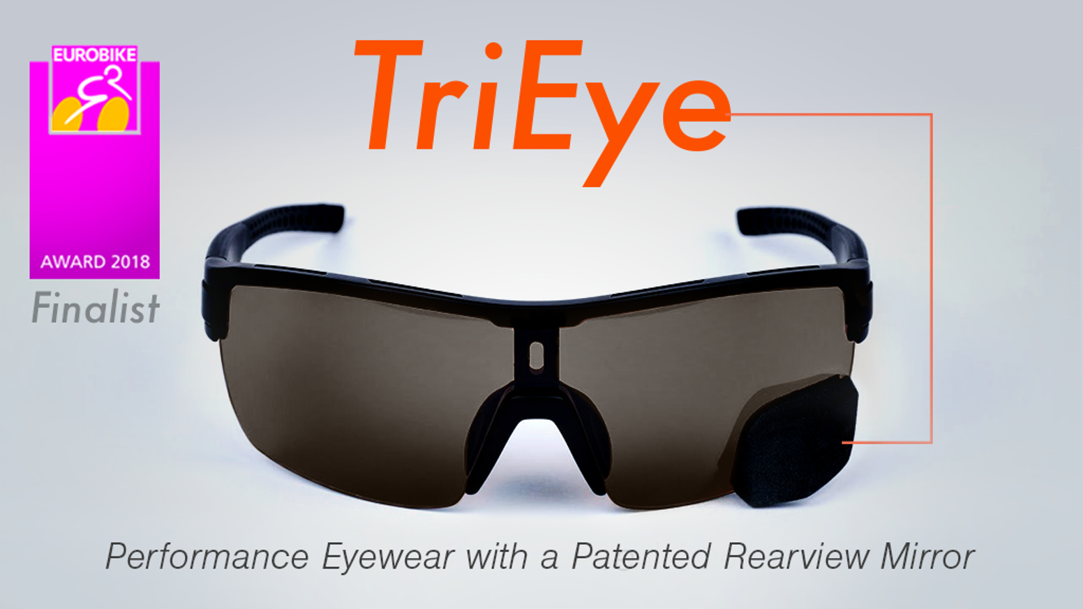 TriEye lets you keep an eye on the road behind with a simple tilt of your head.
