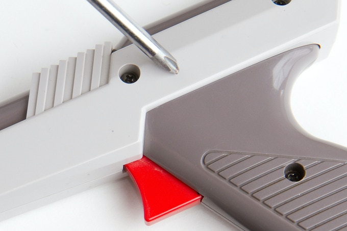 The Zapper disassembles with a Phillips screwdriver