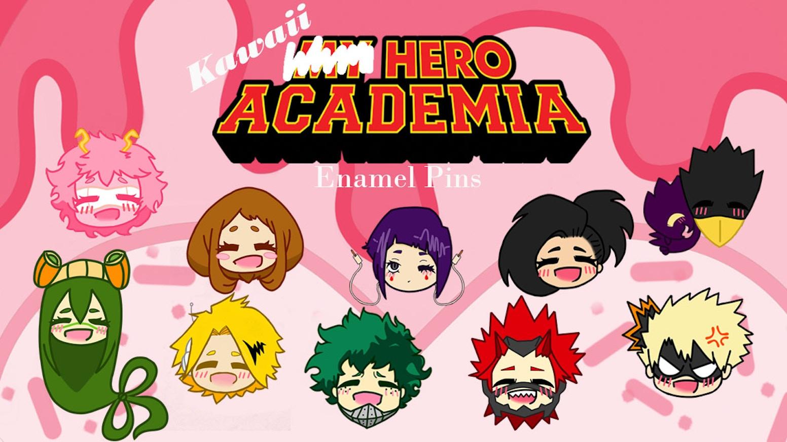 Kawaii Hero Academia Enamel Pins By Kennedy Reed Kickstarter