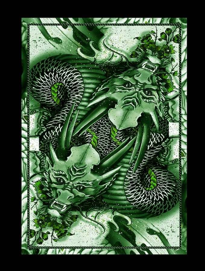Green Dragon (Standard Edition) Card Backing