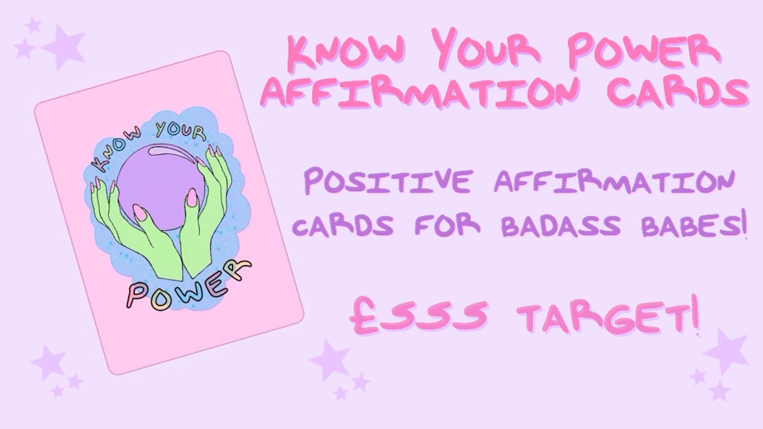 Know your power affirmation cards by hayley woodham kickstarter altavistaventures Gallery