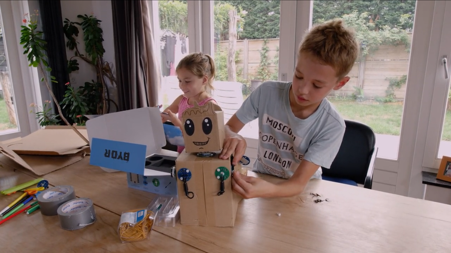 Build your own thought up robot with BYOR! Arts and crafts meet electronics in the most versatile and user-friendly way!
