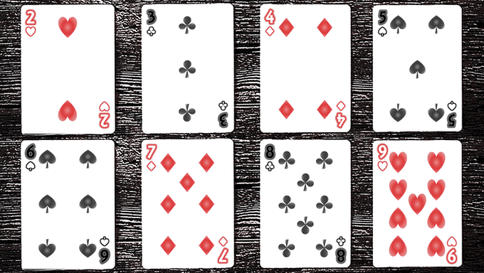 Card samples for the [LIMITED EDITION] Turning Japanese Deck (Design option 1)