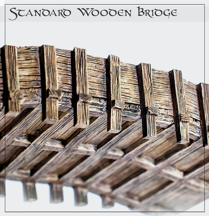 Our bridges are detailed above AND below - so you won't be glimpsing any ugly bottoms when you check for line of sight.