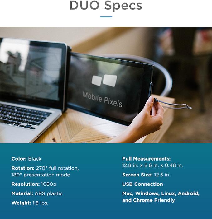 Duo specs