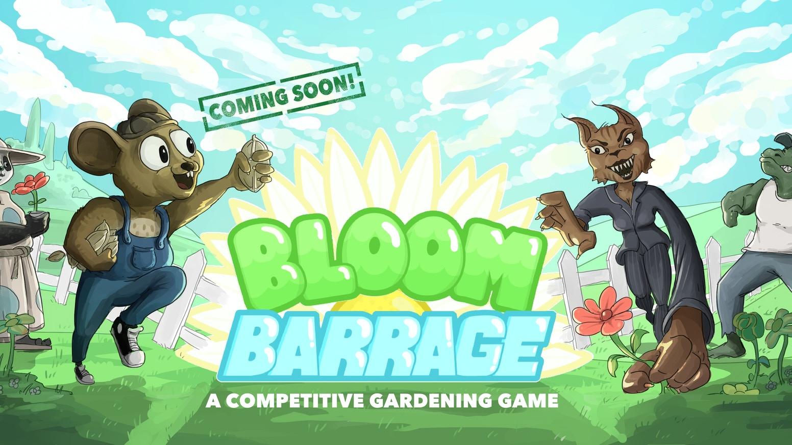A competitive gardening game. Plant and throw seeds with friends in a pixel art styled action game!