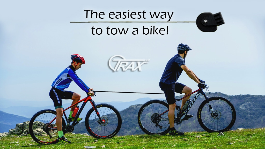 TRAX mtb, The easiest way to tow a bike!