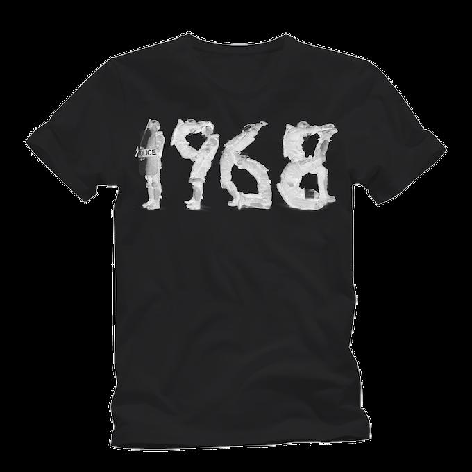 Black 1968 premium cotton tee
