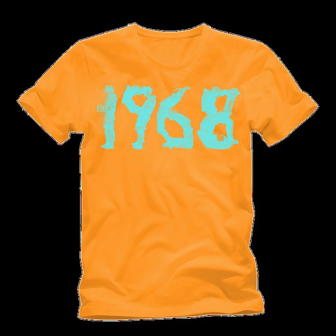 Orange 1968 premium cotton tee