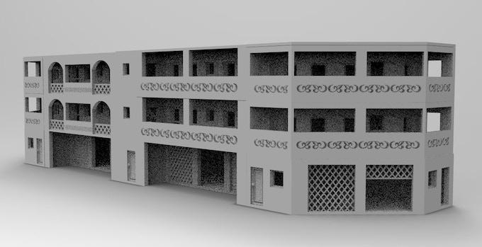 Appartement beetween corner buildings