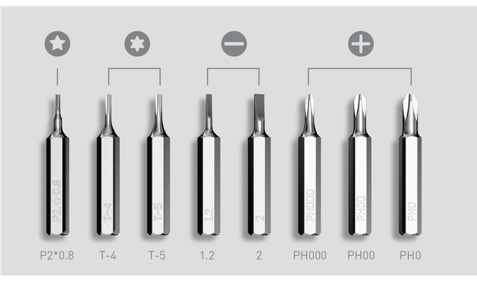 tool bits were selected for precision applications