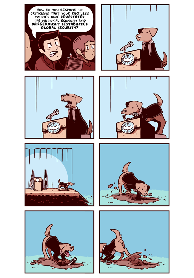 Click here to read more President Dog Comics!