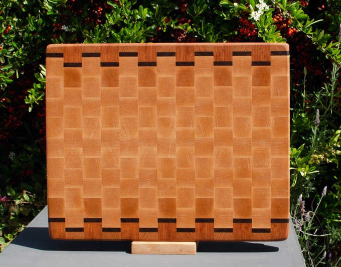 The Basic Cutting Board. End Grain. Made from Hard Maple, Black Walnut & Cherry.