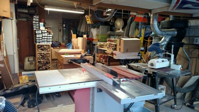 The Woodshop, in all of its glory. It doesn't look very organized ... but work does get done here. Lots of work. Good work.