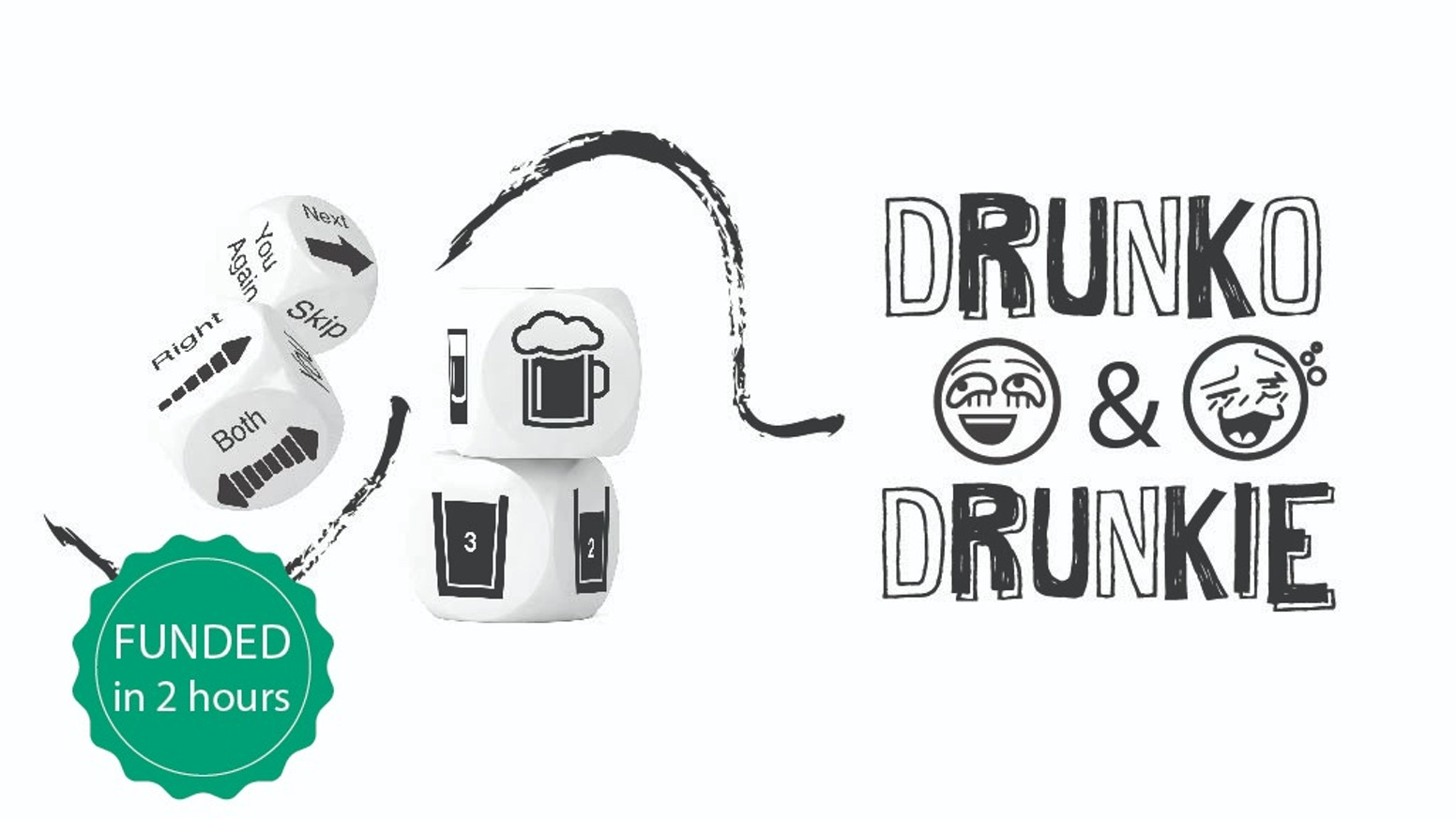 Drunko & Drunkie - 11 games with 4 dice only