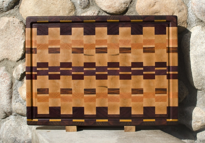 The Best Cutting Board with optional Juice Groove. I'll submit multiple wood designs to you, and you'll choose the board that's perfect for you.