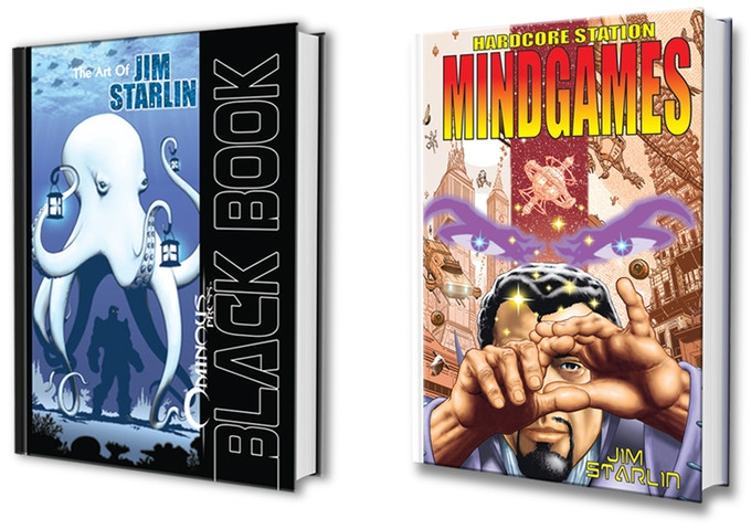 Black Book: The Art of Jim Starlin & Mindgames: A Hardcore Station Story