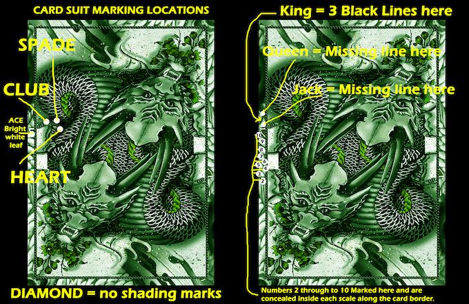 Green Dragon (Standard Edition Green decks include a Marking System for card magic)