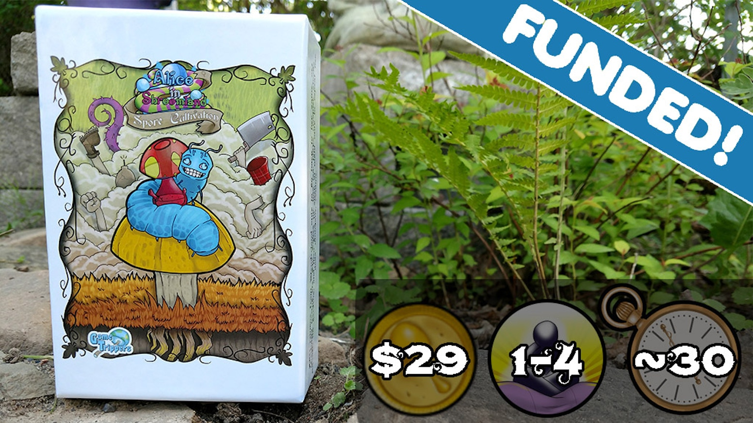 Be careful or you'll get lost in this 1-4 player deck-building game!  Use strategy and luck to make it out of Shroomland alive!