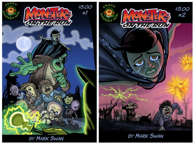 MONSTERS ON THE RUN #1&2