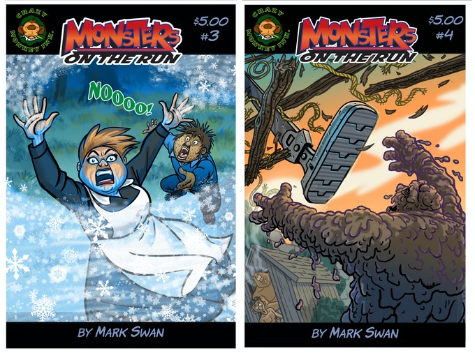 MONSTERS ON THE RUN 3&4