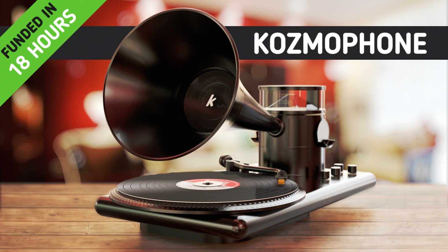 The Kozmophone is a Holographic, Bluetooth Turntable