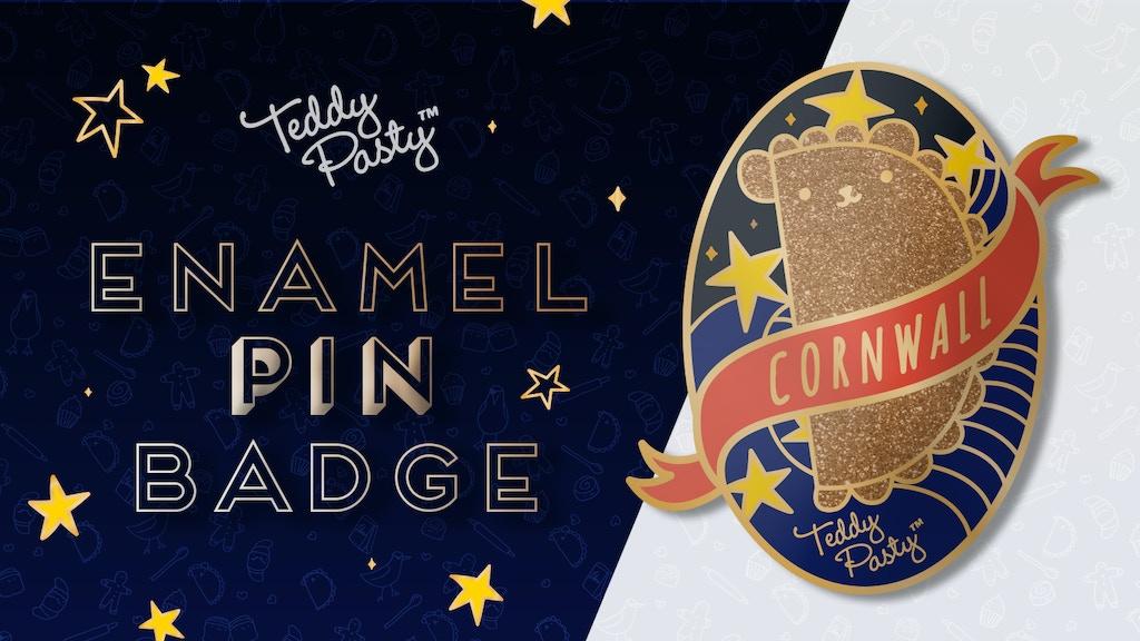 Teddy Pasty Enamel Pin Badge