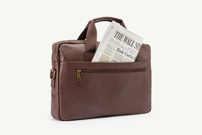 Full-length rear exterior open pocket perfect a newspaper or novel