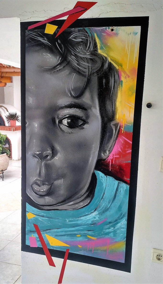 Mural - Young Boy