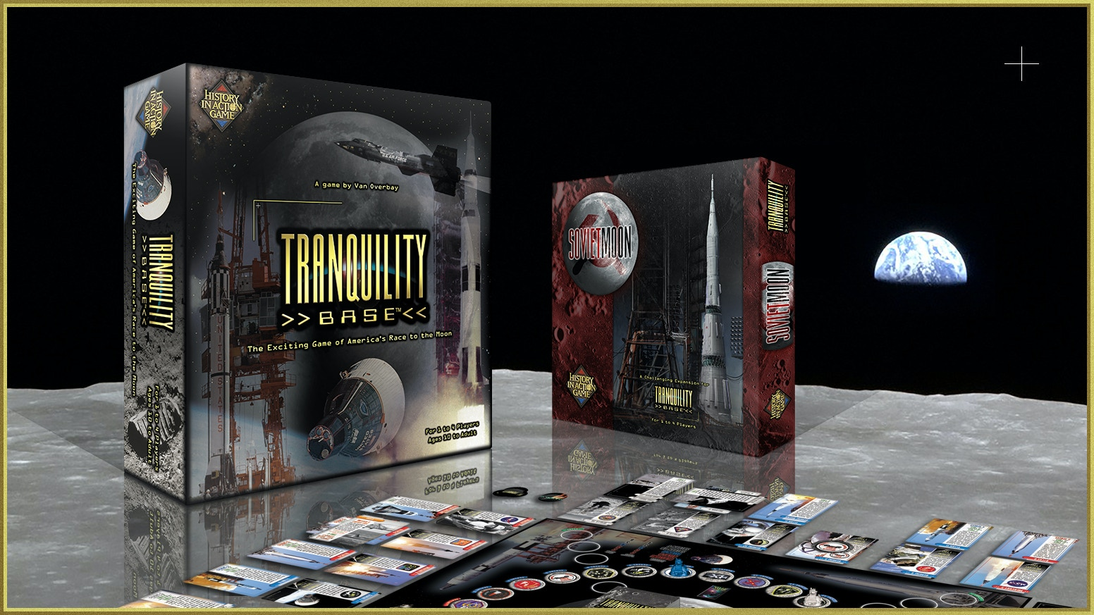 The exciting board game that brings to life America's endeavor to land on the moon.  1 to 4 players. Receive free Soviet Moon Expansion
