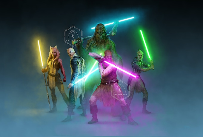 Five of the Jedi who have come to defeat Vader.