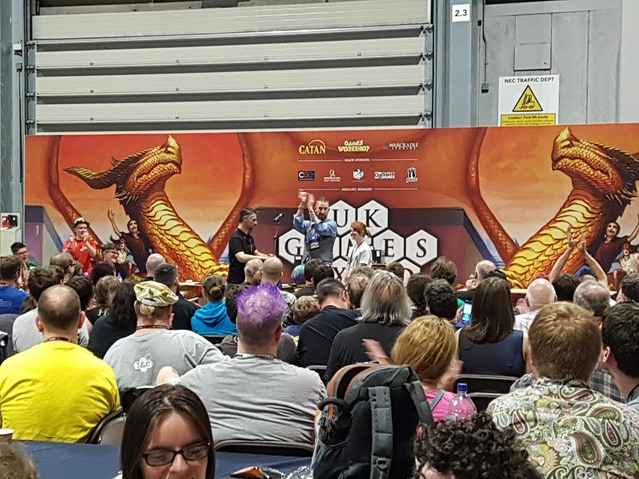 On the Main Stage at UKGE 2018