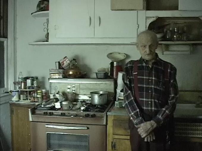 Joseph Grudzien in his kitchen