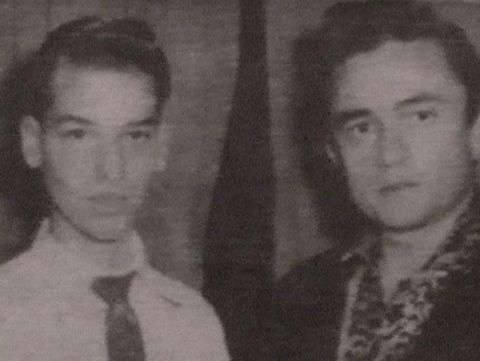 Peter Grudzien with Johnny Cash
