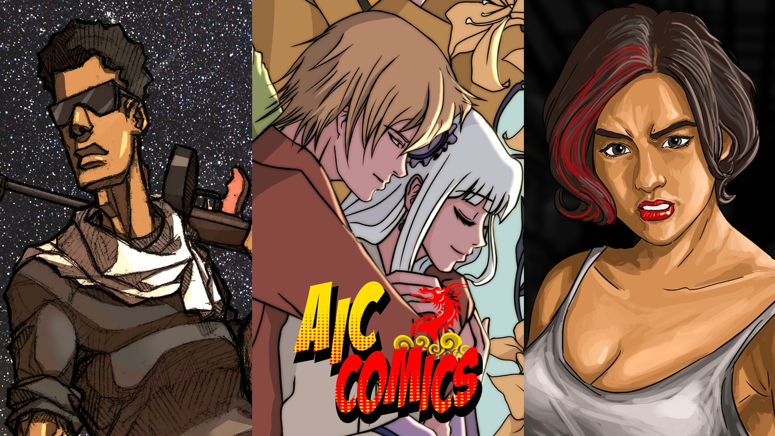 More original independent comic series available in one campaign. Start from the beginning or continue your journey with AIC Comics.
