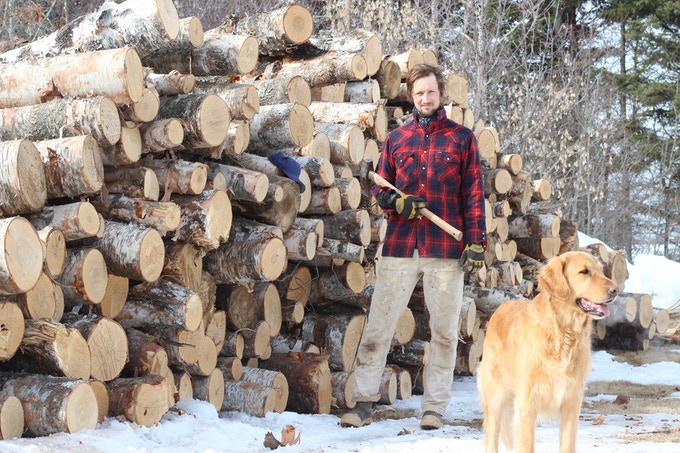 Splitting birch with Fischer