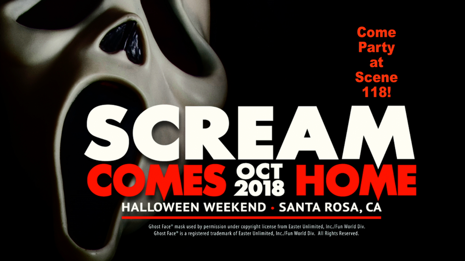 A once-in-a-lifetime SCREAM gathering and screening of the iconic horror movie at the actual house where its classic ending took place.