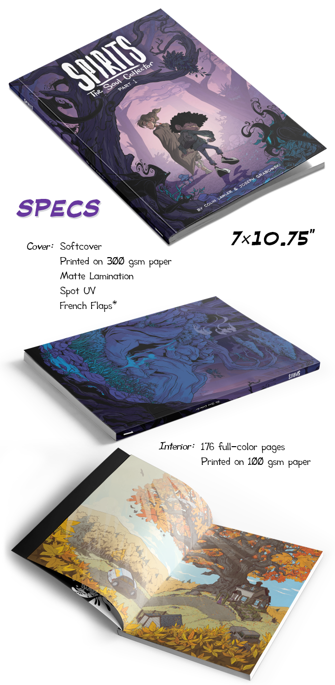 *Images displayed are mock-ups, actual book will look slightly different. In particular, there will be french flaps, which are not shown above.