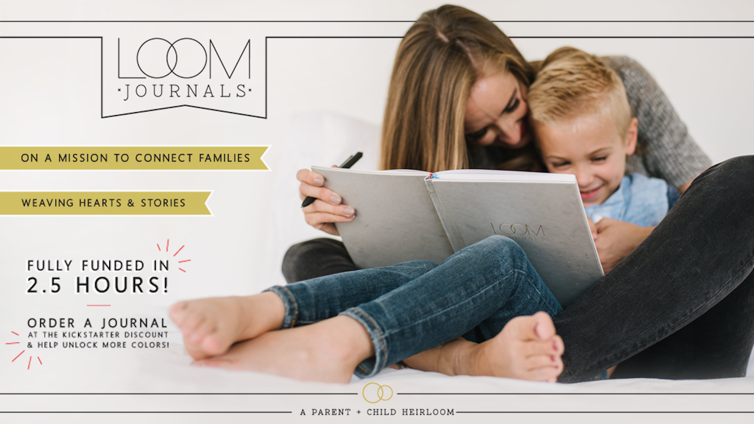 A revolutionary parent-child journal for parents who want more genuine connection and open communication with their children. Thank you for helping us reach our goal! You can now order your journal on our website!